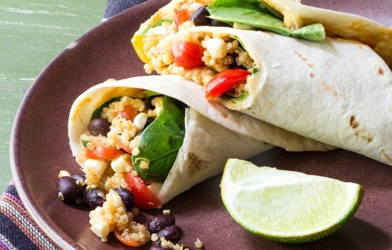 Tortilla Rezept Rollen mit Quinoa