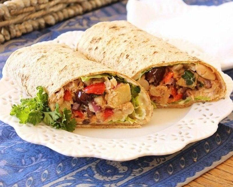 Tortilla Rezept Rollen mit Thunfisch