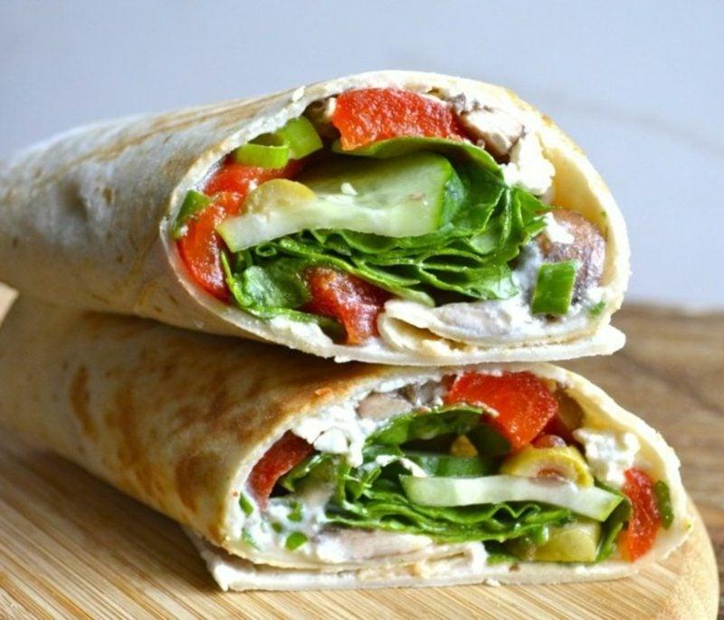 Tortilla Rezept Rollen für Vegetarier