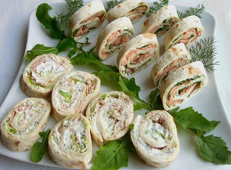 Tortilla Rezept Rollen mit Lachs