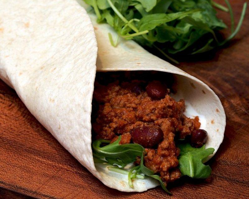Tortilla Rezept Wraps mit Hackfleisch