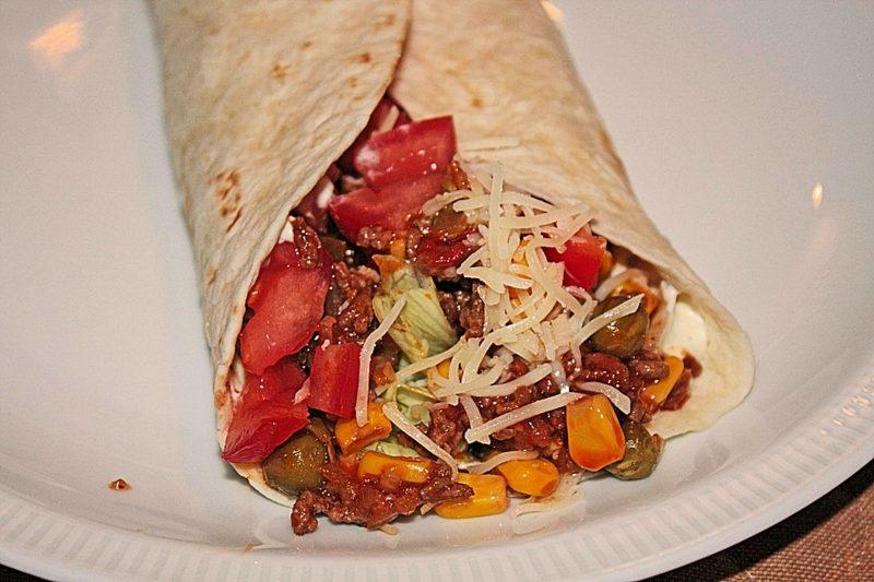 Tortilla Rezept Wraps Hackfleisch