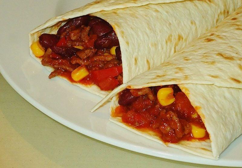 Tortilla Rezept Rollen mit Chilli Sosse