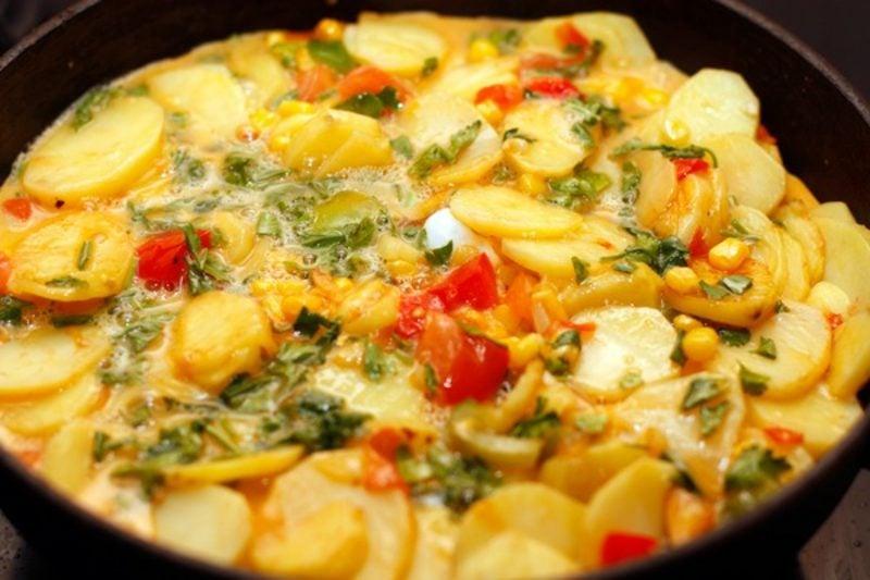 Tortilla Rezept spanisch Kartoffeln Gemüse