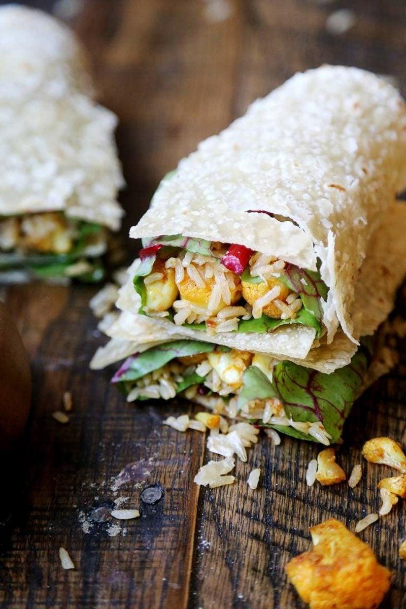 Tortilla Rezept Füllung Kohl und Reis vegetarisch