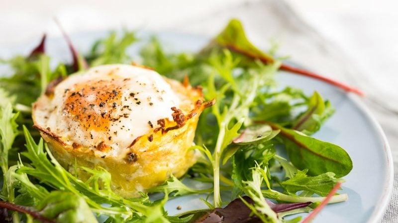 Wachteleier Rezept Ei im Kartoffelnest