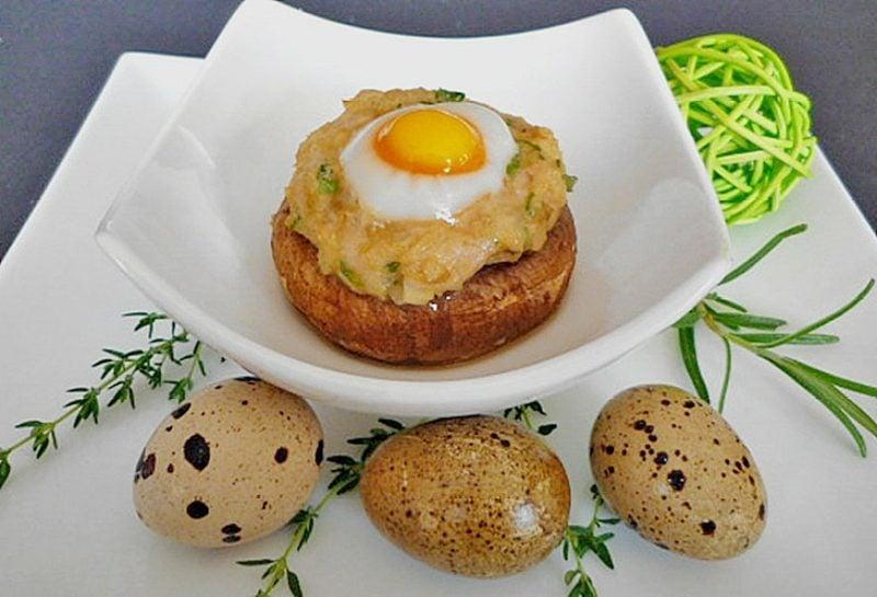 Wachteleier Rezept mit Pilzen und Kartoffeln