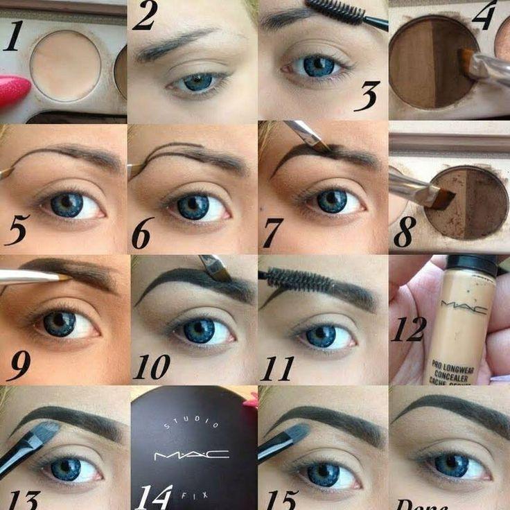 Augenbrauen Formen Make-up Anleitung