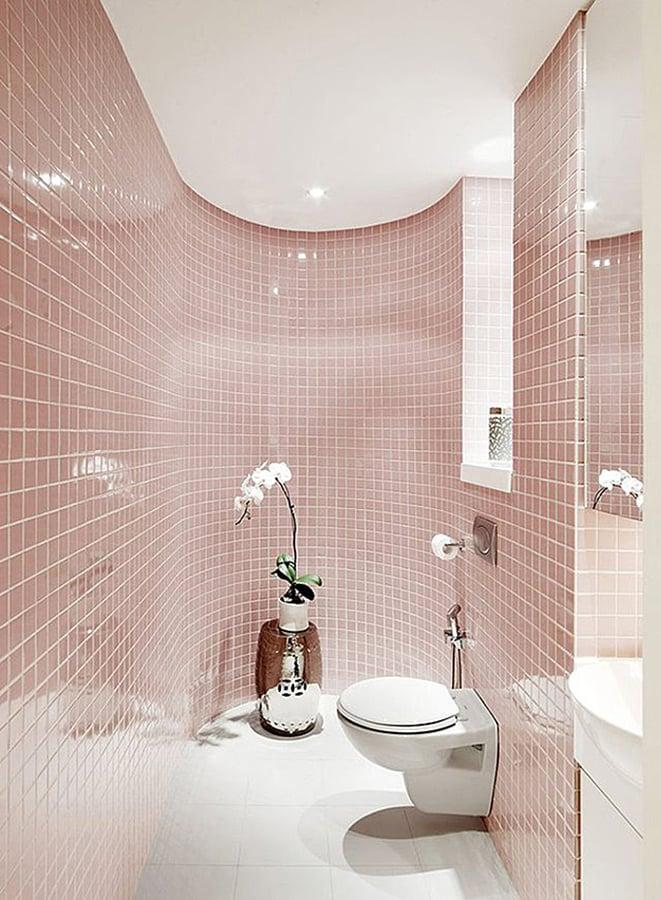 Rosa badezimmer amazing rosa mosaik fliesen conch - Rosa badezimmer ...
