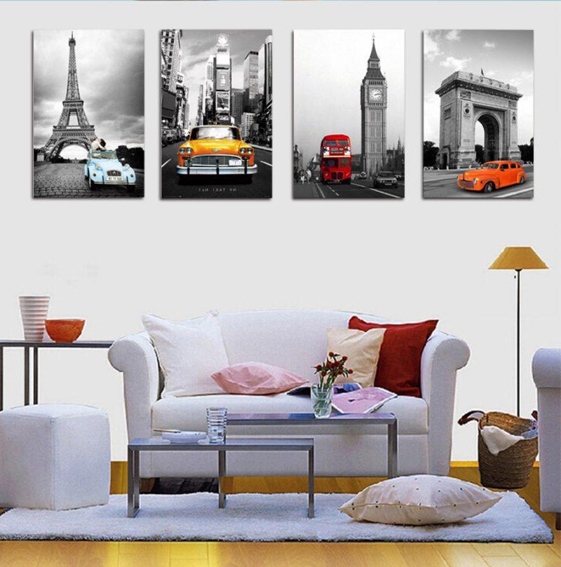 Wohnzimmer Bilderwand Couch Wohnzimmergestaltung Mit Farben Und Bildern 70 Frische