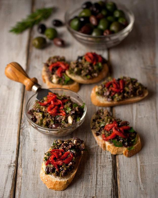 oliven gesund delikatesse oliven vegane tapenade rezept
