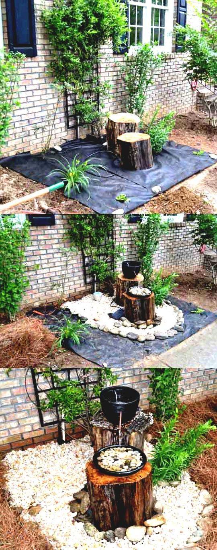 Garten gestalten Springbrunnen als Blickfang im eigenen Garten DIY, Garten ZENIDEEN