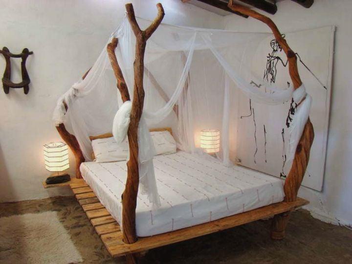 Schlafzimmer ideen zum selber machen  Schlafzimmer Ideen - Himmelbett Anleitung und 42 weitere ...