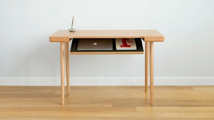 Schreibtisch Selber Bauen Anleitung Schreibtisch Aus Holz Diy Möbel