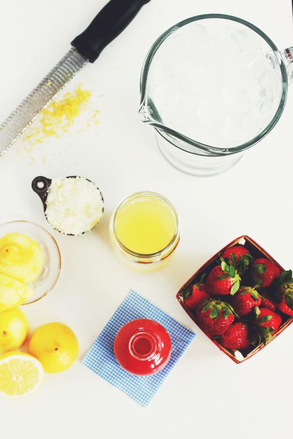 Erdbeeren Limonade selber machen - Rezept
