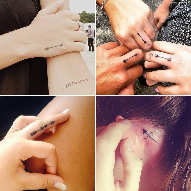 Finger Tattoo Pfeil