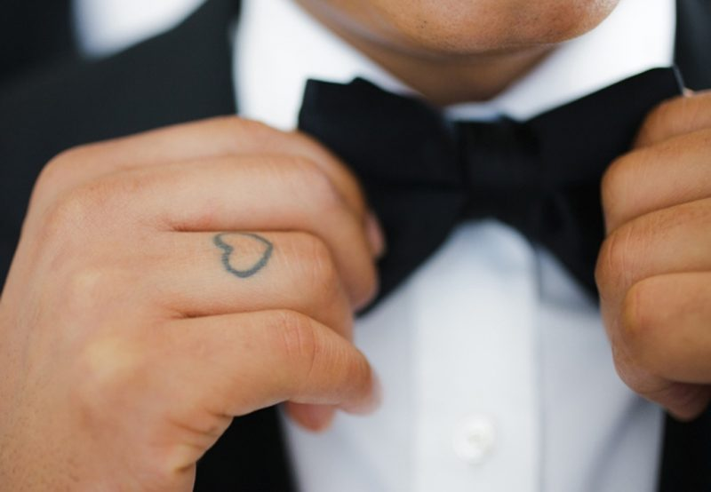Finger Tattoo Trend für Hochzeit