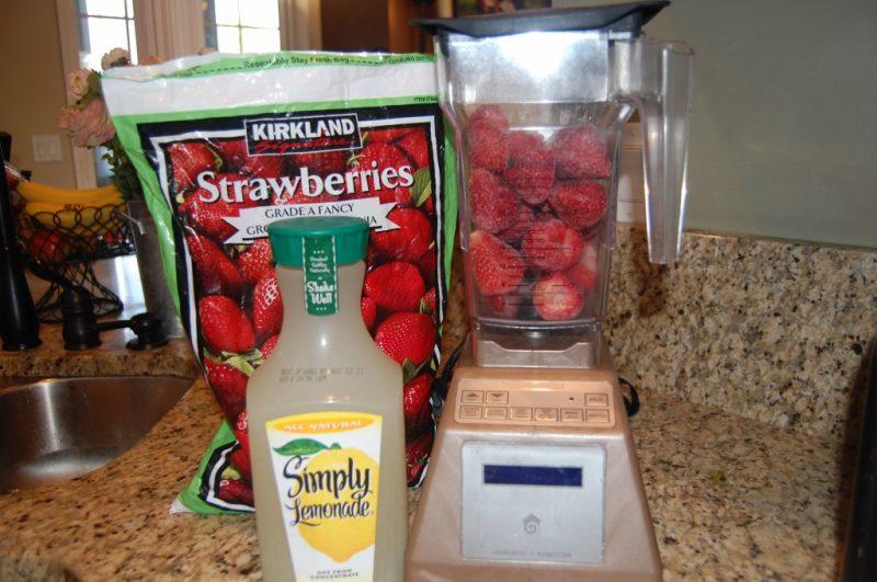 Erdbeeren Limonade selber machen