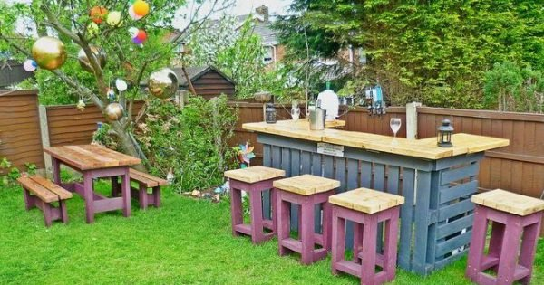 Gartenm bel aus paletten gartensessel anleitung und 65 for Colchon para muebles de jardin en palet