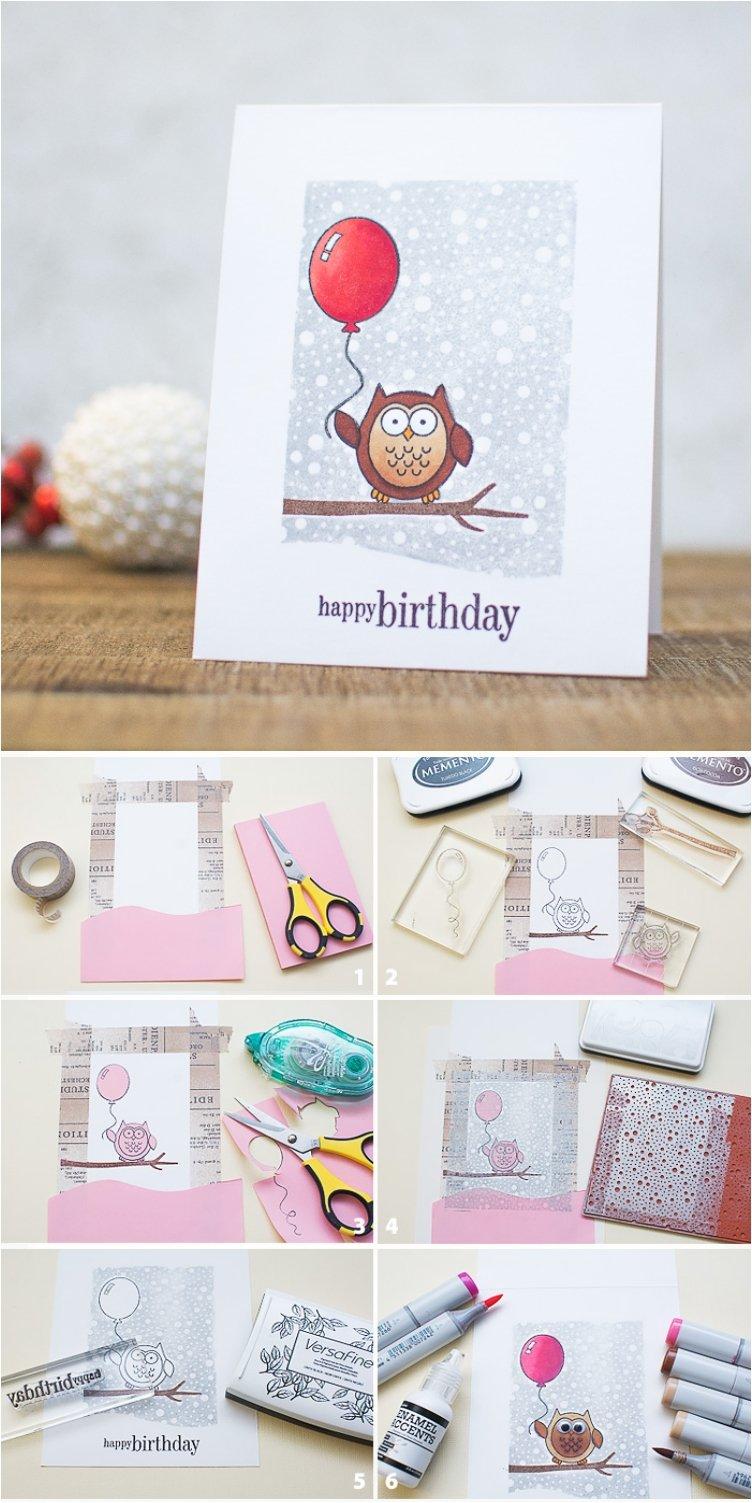 Geburtstagskarte selber machen Anleitung