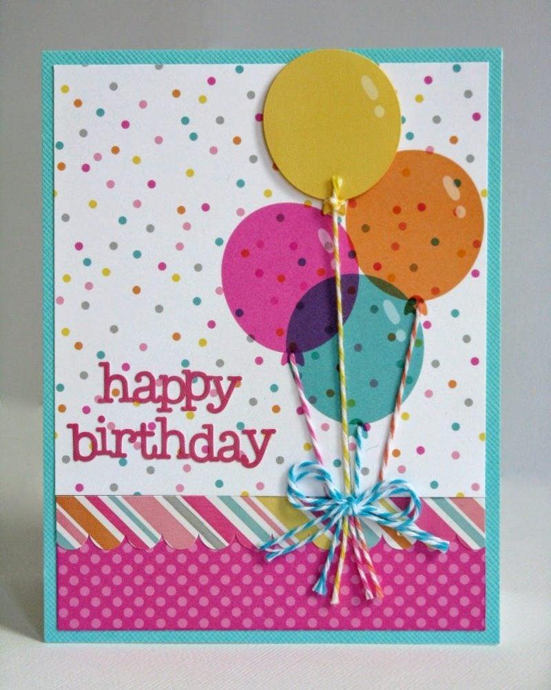 Geburtstagskarte selber machen - DIY Anleitung