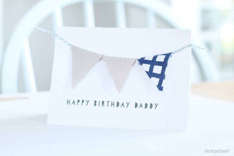 Noch eine Anleitung für Nähverrückte : Mit Stoffreste Geburtstagskarten selber machen