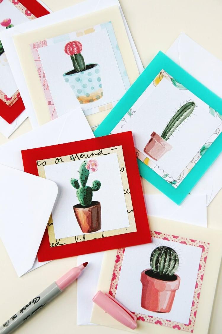 Recycling Basteln - Geburtstagskarte selber machen