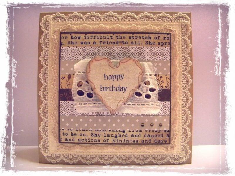 Vintage Geburtstagskarten