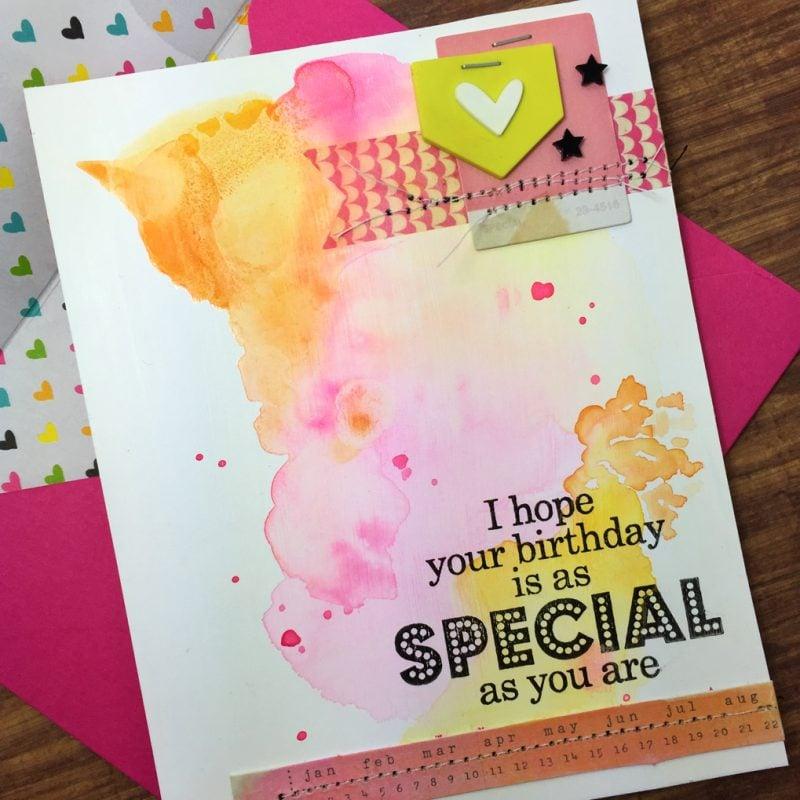 Geburtstagskarten bemalen mit Aquarellfarben