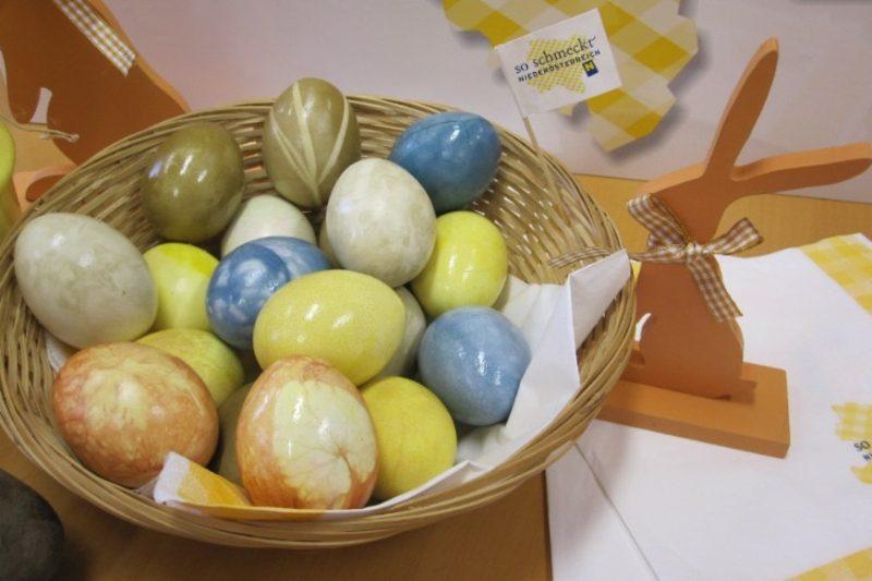 Ostereier färben mit Naturfarben Pastellnuancen herrlicher Look