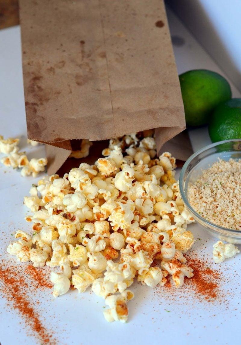 gesunde Abendsnacks - Popcorn Chilli Lime