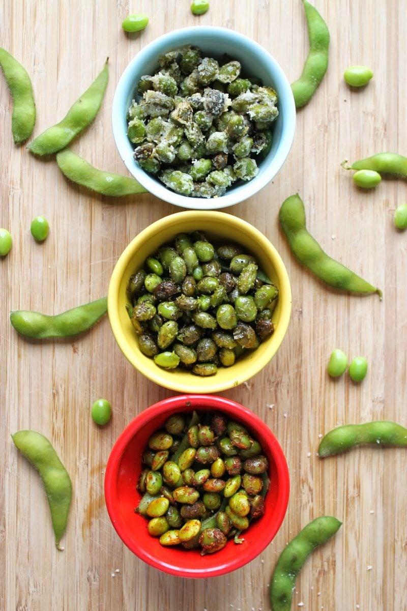gesunde Abendsnacks - Edamame statt gebratene Nusse