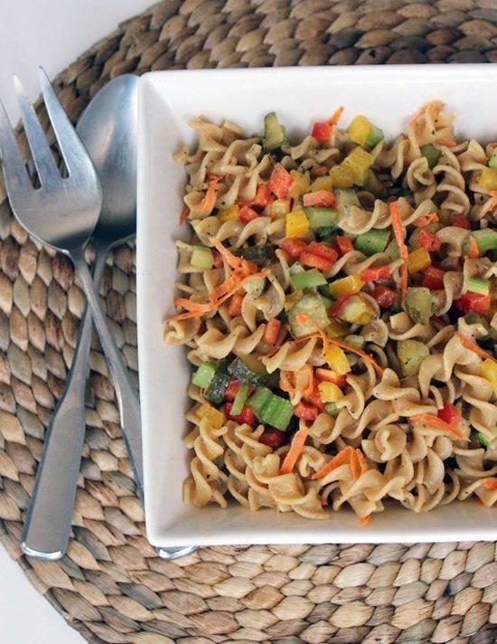 Gesunde Rezepte zum Abnehmen - Vegetarische Pasta