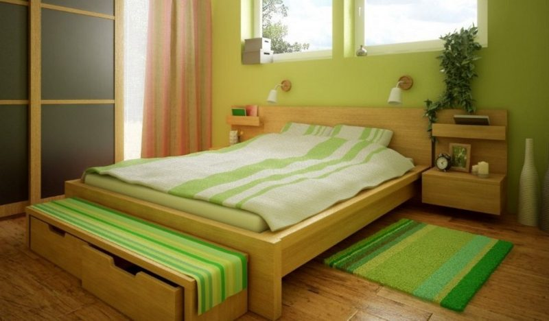 Schlafzimmer Gestalten - Prachtvolle Wandgestaltung Schaffen ... Schlafzimmer Hellgrn