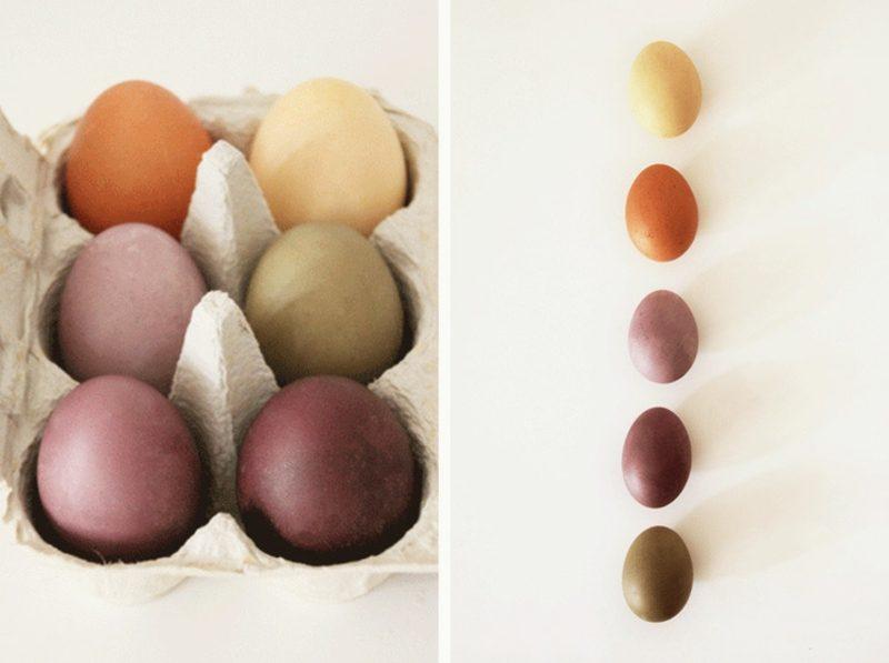 Ostereier färben mit Naturfarben unterschiedliche Nuancen kreieren
