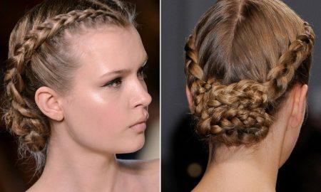 Hochsteckfrisuren selber machen elegante Frisur mit französischem Zopf