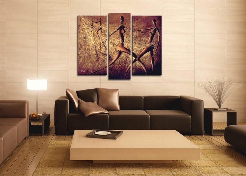 Wohnzimmergestaltung mit farben und bildern 70 frische for Wand kunst wohnzimmer