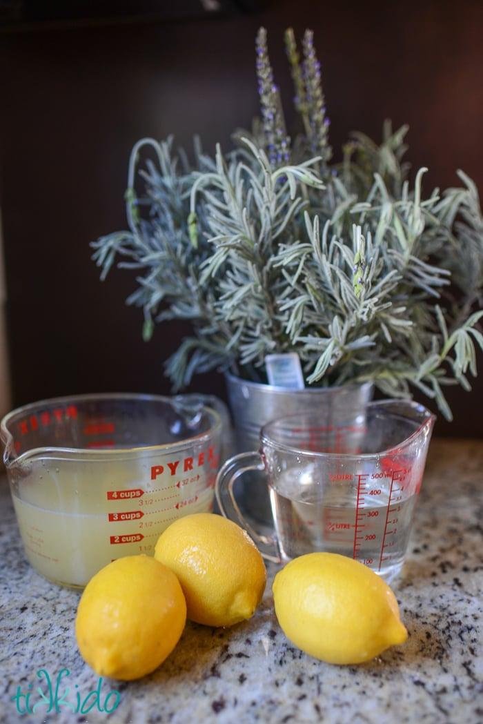 Lavendel Limonade selber machen