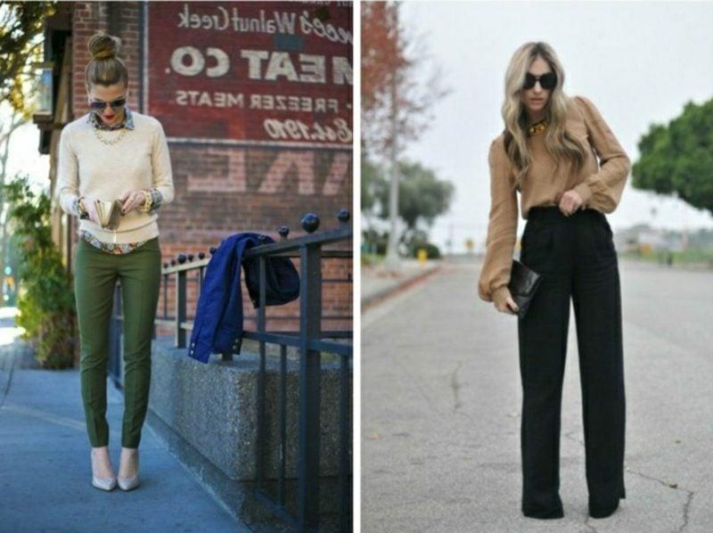 Business Casual Outfit Frau zwei Varianten