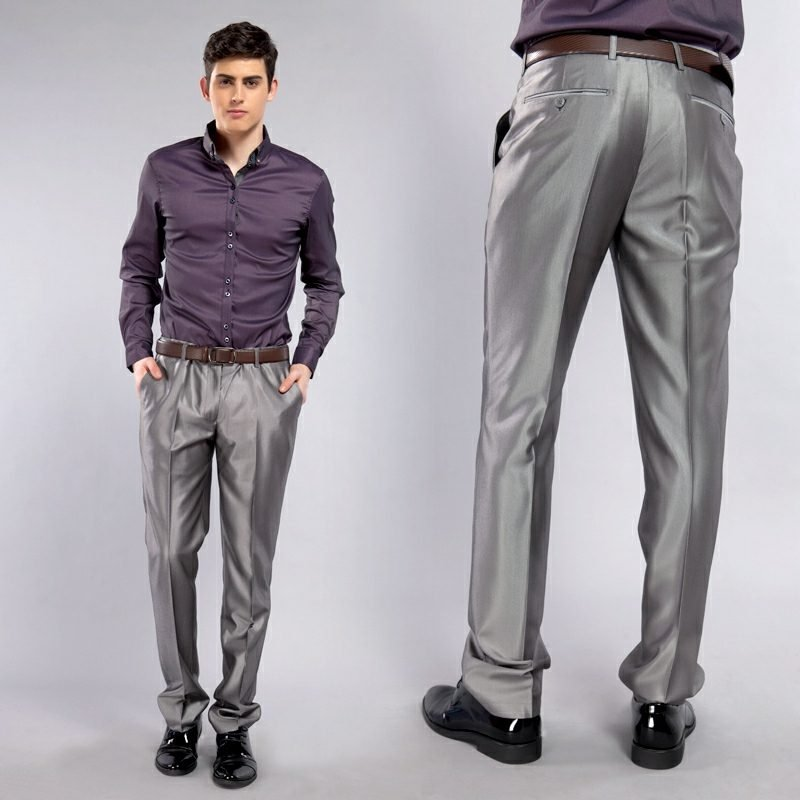 Dresscode Business Casual Mann moderne Hose dunkellila Hemd