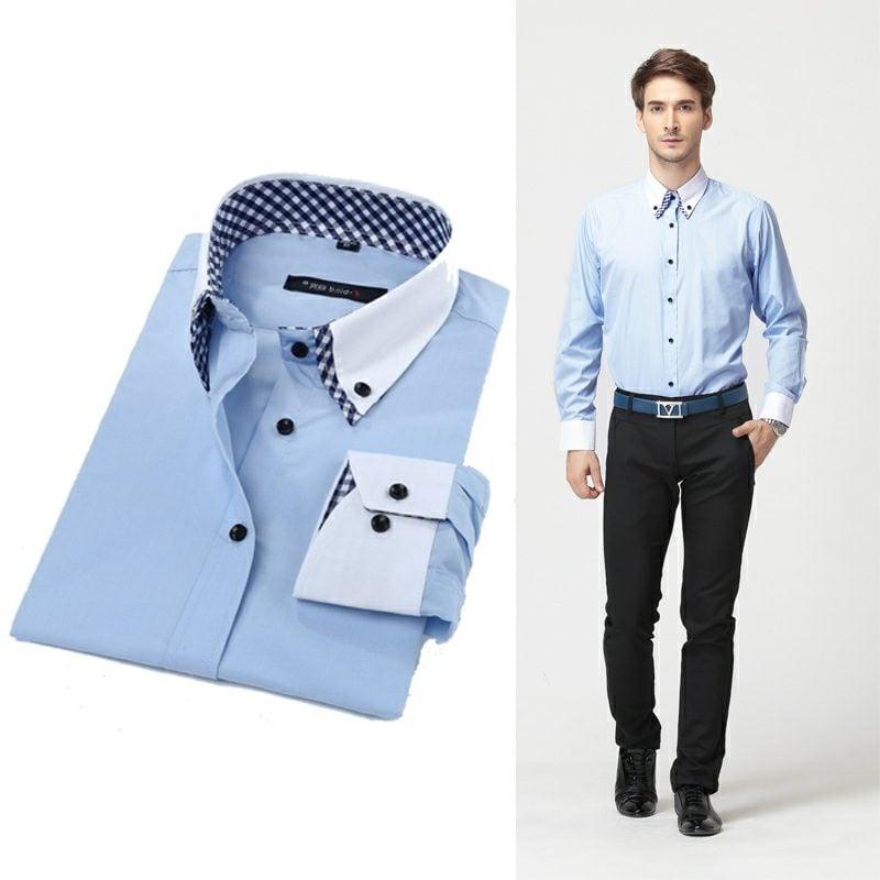 Mann Business Casual Outfit originelles Hemd