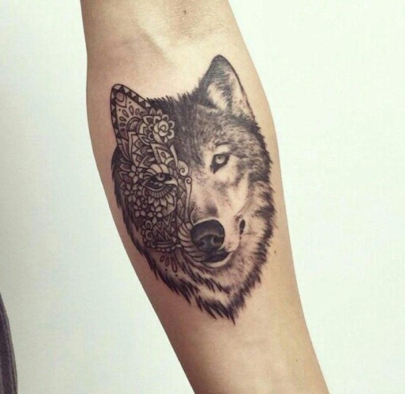 tattoo wolf 60 inspirierende ideen f r m nner und frauen. Black Bedroom Furniture Sets. Home Design Ideas