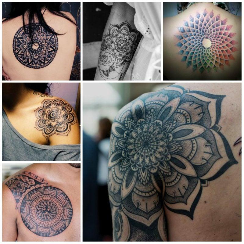 das spirituelle mandala tattoo  ideen mit magischer