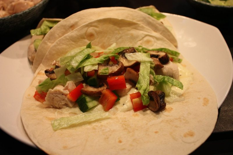 Tortilla Rezept mexikanische Tortillas mit Salat