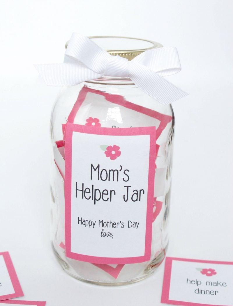 Muttertag basteln Geschenke im Glas