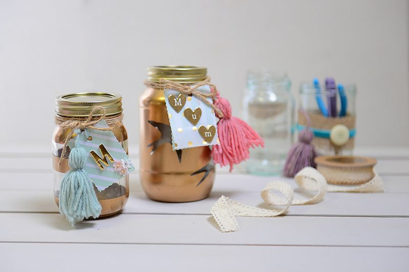 Muttertag basteln: Manicure im Glas