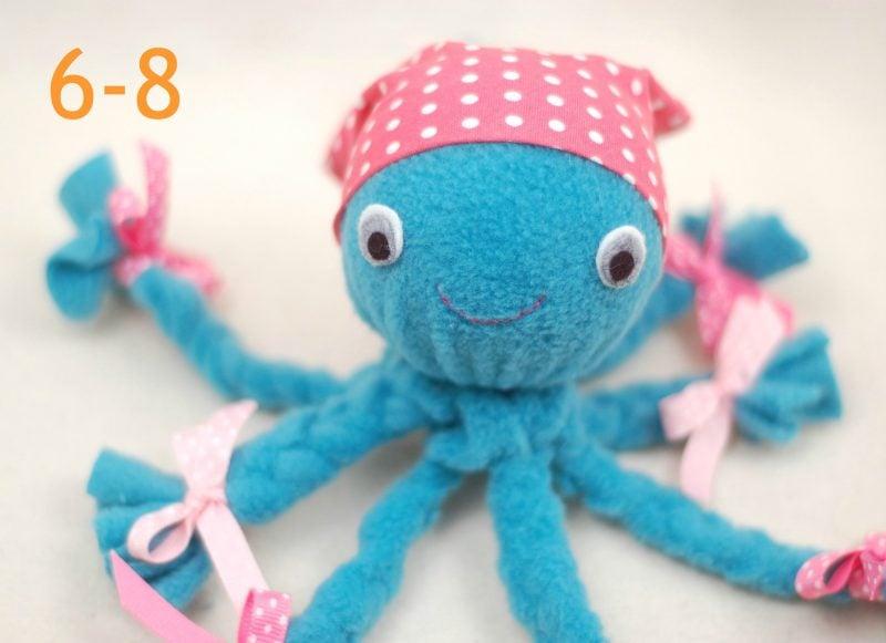Schritt-für-Schritt Anleitung: Octopus Plüschtier selber machen