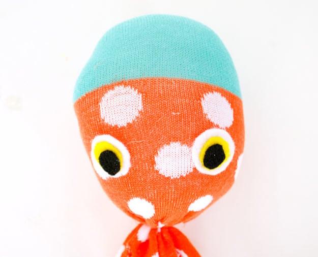 Octopus Kuscheltier selber machen - Anleitung