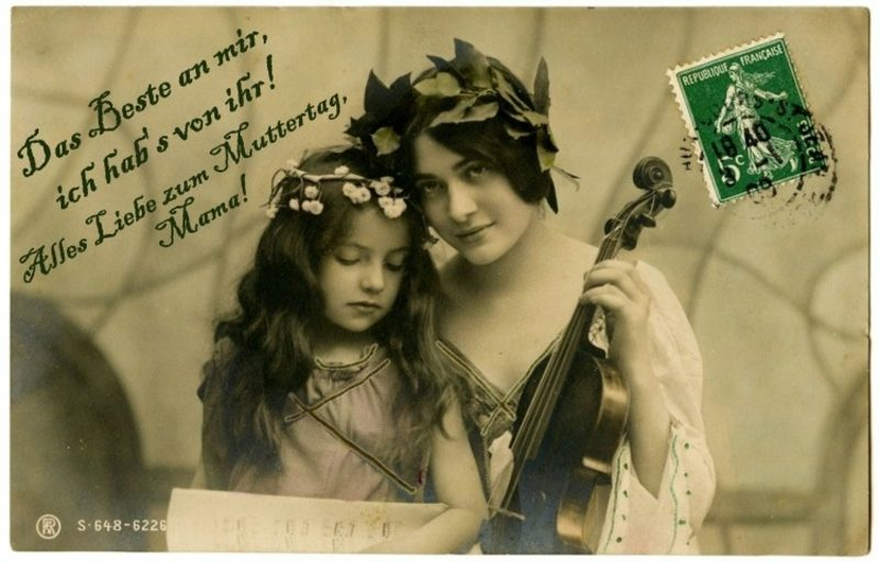 Muttertagsgedicht originelle Grusskarte aus der Vergangenheit