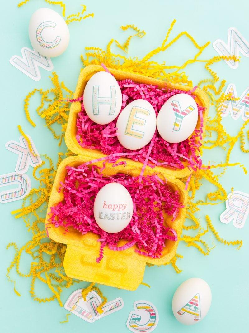 Ostereier dekorieren: Ostern Bilder ausdrucken statt Eier färben